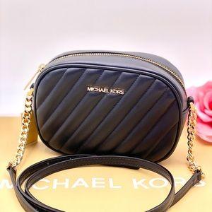 Michael Kors Camera Crossbody Bag Black